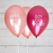 Bride Squad Miss To Mrs/Boy Did Good Balloons (8)